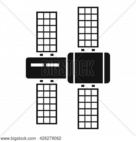 Solar Space Station Icon Simple Vector. International Astronaut Station. Space Satellite