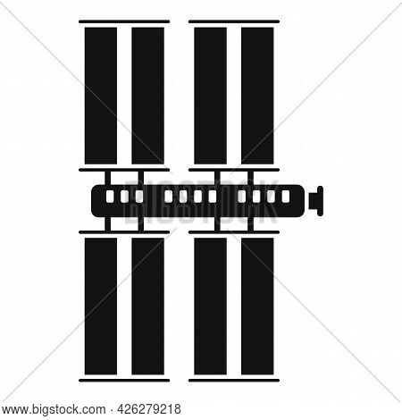 Energy Space Station Icon Simple Vector. Nasa Rocket Base. Mars Space Station