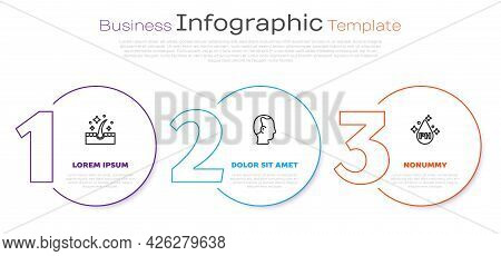 Set Line Oil For Hair Care Treatment, Baldness And . Business Infographic Template. Vector