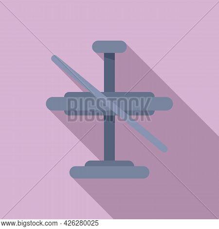 Metal Gyroscope Icon Flat Vector. Accelerometer Orientation. Mobile Momentum