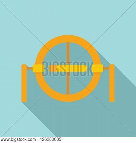 Gravity Model Icon Flat Vector. Accelerometer Gyroscope. Gyro Sensor