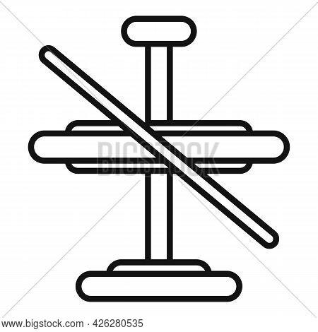 Metal Gyroscope Icon Outline Vector. Accelerometer Orientation. Mobile Momentum