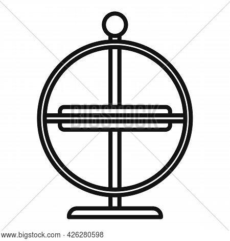 Physics Gyroscope Icon Outline Vector. Momentum Accelerometer. Smart Gravity Sensor