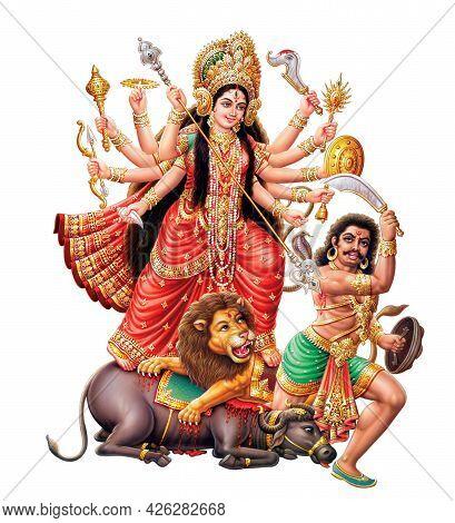 Hindu Festival Goddess Dugra High Resolution Photokolkata, West Bengal, India