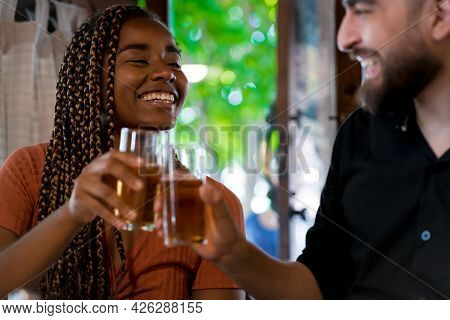 Young Couple Having A Date At A