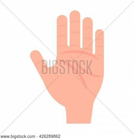 Human Hand Vector Person Icon Illustration Isolated White. Thumb Human Hand Silhouette Signature Con
