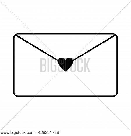 Envelope. Loving Letter. Valentine's Day. Declaration Of Love. Vector Hand Drawn Illustration. For G