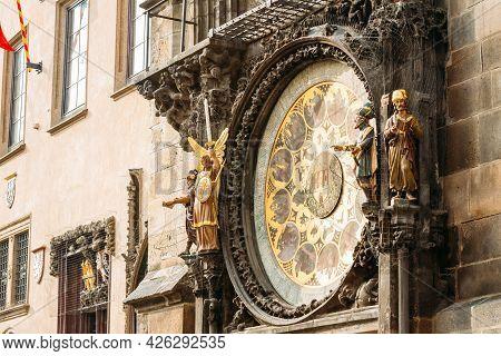 Prague Astronomical Clock At Old Town City Hall From 1410 Is The Third Oldest Astronomical Clock In