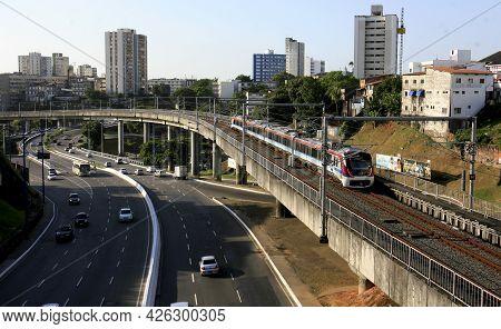 Public Transport Train In Salvador