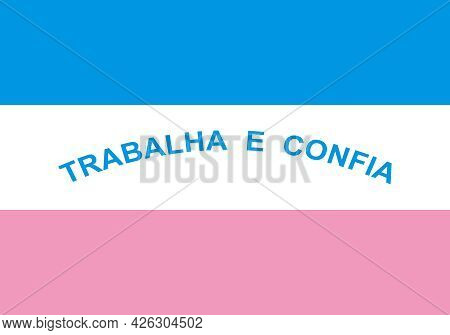 Official Large Flat Flag Of Espirito Santo Horizontal