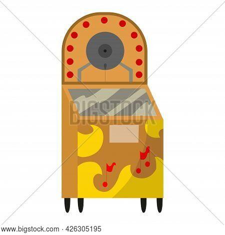 Vintage Music Object. Retro Jukebox. Color Symbol Design. Vector Illustration Design Template