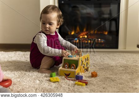 Childhood, Development, Skills, Motility Games - Little Authentic Child Baby Toddler Girl Composes S
