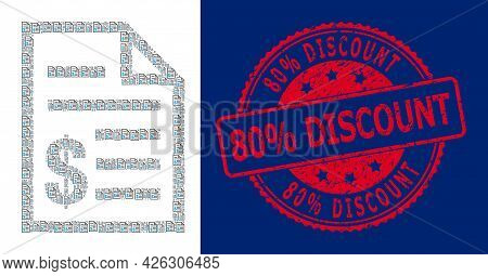 80 Percents Discount Corroded Round Seal Print And Vector Recursive Mosaic Price List. Red Stamp Sea
