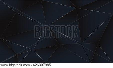 Black Gold Luxury Background. Vector Dark Rich Poly Backdrop Wallpaper. Graphic Illustration. Golden