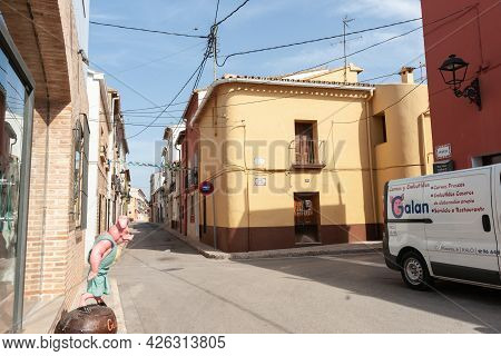 Xalo Spain - August 18 2016; Typical Architecture And Streets Of Small Villages In Rural Spain.