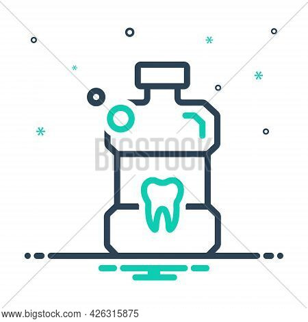 Mix Icon For Listerine Mouthwash Bottle Antiseptic Teeth Cleanliness