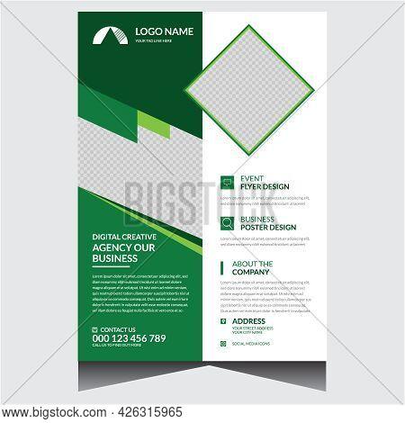 Classic Corporate Business Flyer Design Template Vector