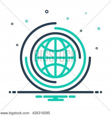 Mix Icon For Global Universal Environment Globalization Worldwide