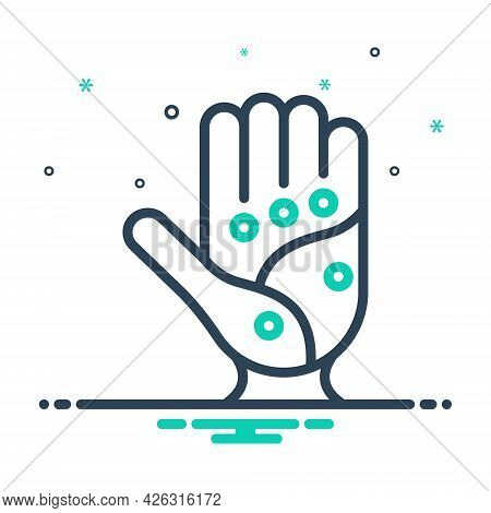 Mix Icon For Point Spot Palm Acupressure Acupuncture