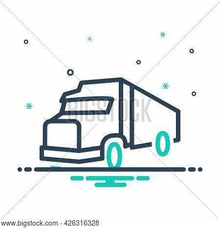 Mix Icon For Transport Carriage Truck Roadster Vehicle