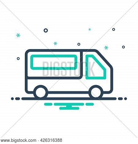 Mix Icon For Pickup-van Pickup Van Transport Mini-bus Automobile