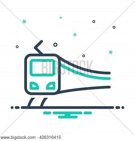 Mix Icon For Subway-train Subway Train Passenger Metro Track Speed Transportation Carriage
