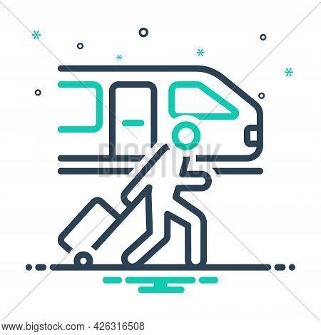 Mix Icon For Passenger-train Passenger Train Railway-station Platform Luggage