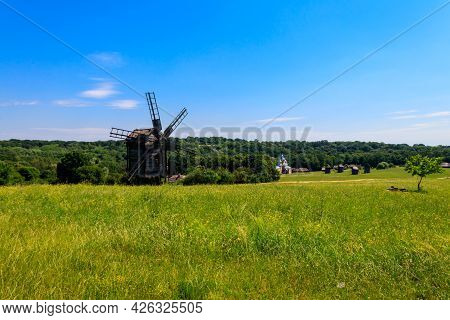 View Of Open-air Museum Of Folk Architecture And Folkways Of Ukraine In Pyrohiv (pirogovo) Village N
