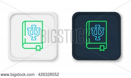 Line Psychology Book Icon Isolated On White Background. Psi Symbol. Mental Health Concept, Psychoana