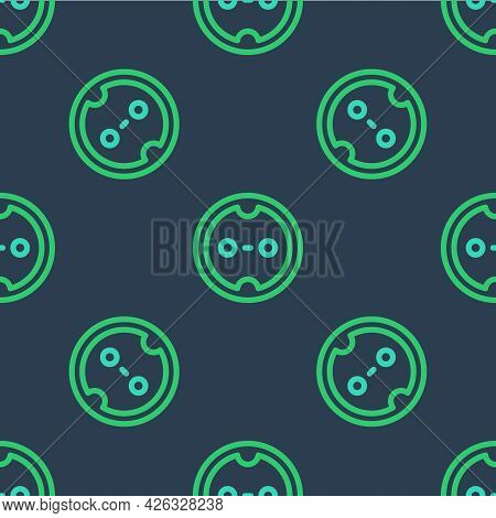 Line Electrical Outlet Icon Isolated Seamless Pattern On Blue Background. Power Socket. Rosette Symb