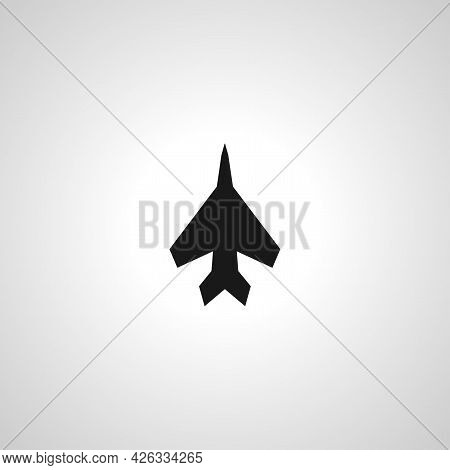 Military Aircraft Sign. Jumbo Jet Isolated Simple Vector Icon