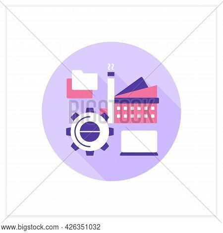 Infrastructure Management Flat Icon. Digital Technologies In Modern Management.smart City. Digital S