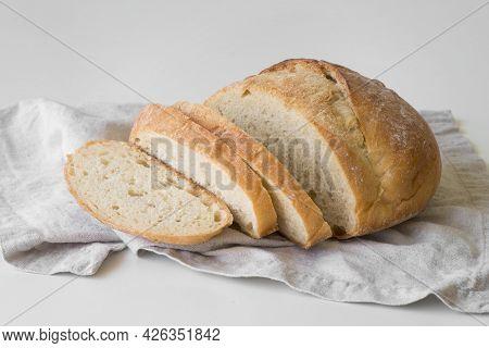 High Angle Sliced Fresh Bread. High Quality Beautiful Photo Concept