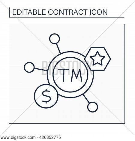 Trademark Line Icon. Recognizable Insignia, Phrase, Word, Or Symbol. Label Of Specific Product.intel