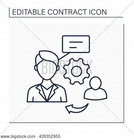 Proxy Line Icon. Proxy Firm. Services For Shareholders To Vote Shares At Special Meetings.contract C