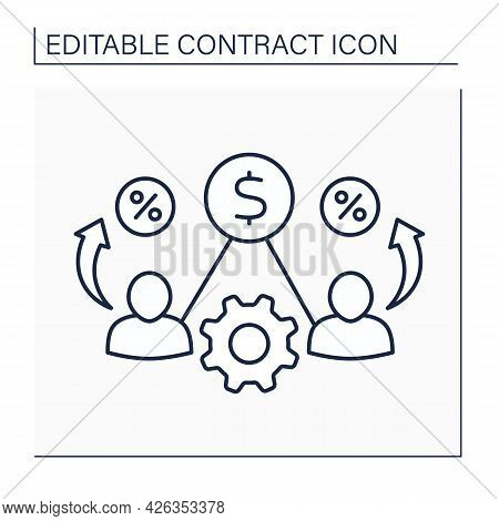 Liability Line Icon. Joint And Several Liability. Responsibility Shared By Multiple Parties. Wronged