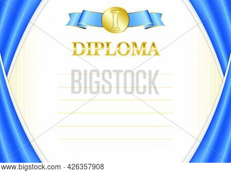 Horizontal  Frame And Border With Somalia Flag, Template Elements For Your Certificate And Diploma.