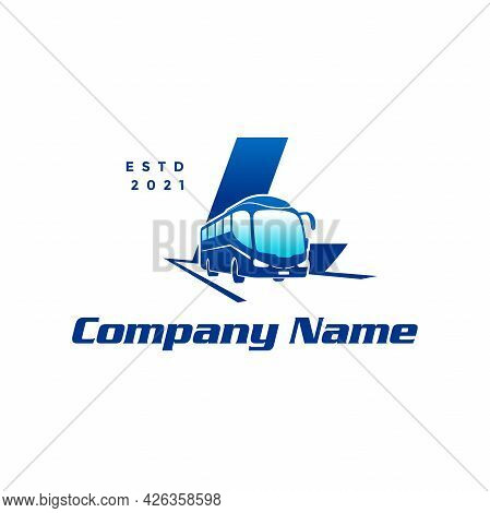 Modern And Stylish Logo Design Initial L Combine With Bus.