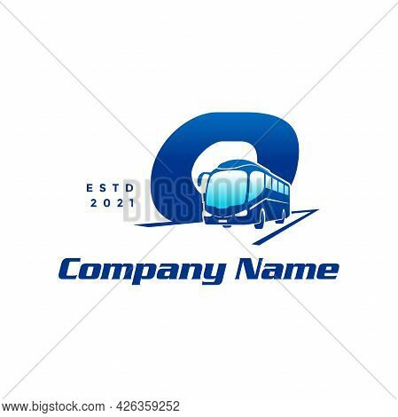 Modern And Stylish Logo Design Initial O Combine With Bus.
