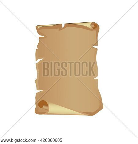 Blank Torn Old Parchment Cartoon Vector Illustration