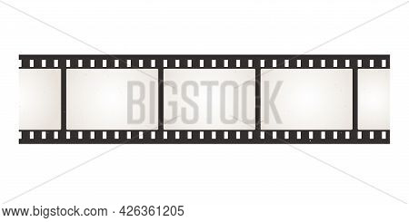 Filmstrip. Photo And Movie Camera Negative. Film Roll With Perforation. Blank Snapshot Celluloid Tap