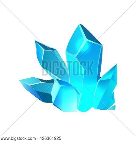 Colored Minerals For Game Interface Cartoon Icon Vector Illustration