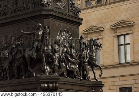 13 May 2019 Berlin, Germany -equestrian Statue Of Frederick The Great By Christian Daniel Rauch, 185