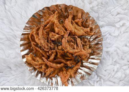 Onion Pakoda Or Onion Fritters Called Pyaz Ke Pakode