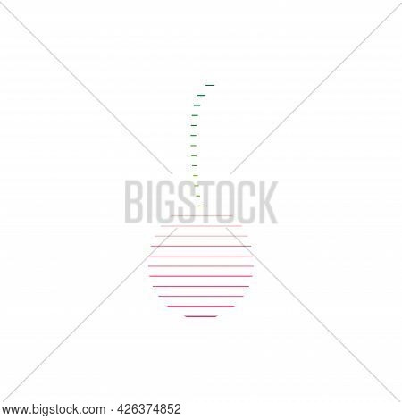 Cherry Vector Icon. Cherry Abstract Vector Icon Isolated On White. Perfect For Logo, Pattern Or Othe