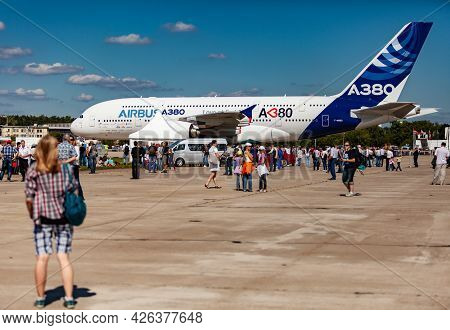 Zhukovsky Airport, Moscow, Russia August 19, 2011large Aircraft A-380