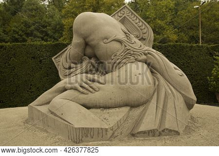 Ludwigsburg, Germany , 16 September 2017. Sand Sculpture In The Gardens