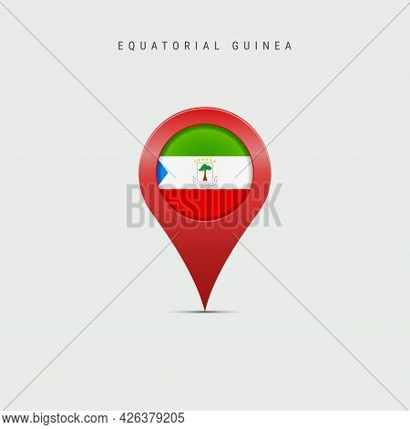 Teardrop Map Marker With Flag Of Equatorial Guinea. Republic Of Equatorial Guinea Flag Inserted In T