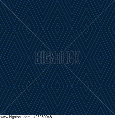 Geometric Pattern Seamless. Blue Rectangular Shape. Use For Fabric,print,product,tiles,packaging,wal