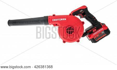 Winneconne, Wi - 5 July 2021:  A Package Of Craftsman Blower On An Isolated Background